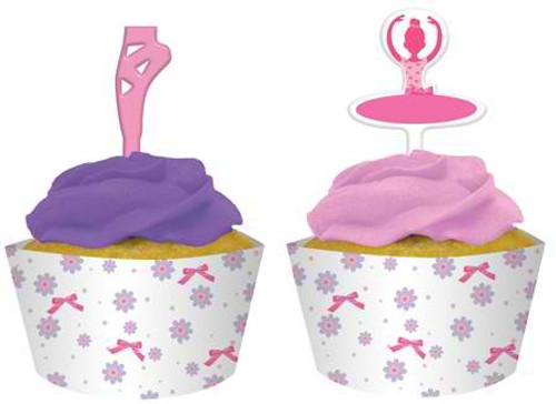 Ballerina Cupcake Wrapper & Picks