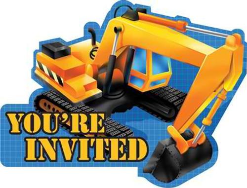 Construction Trucks Invitation Cards & Envelopes