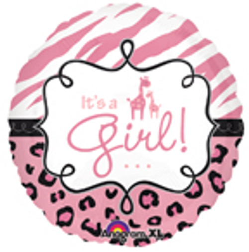 "18"" Safari Baby Girl Balloon"