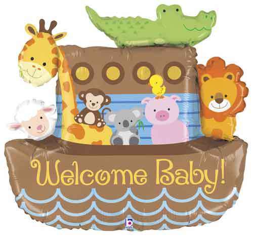 "37"" Noah's Ark Welcome Baby Super Shape Balloon"
