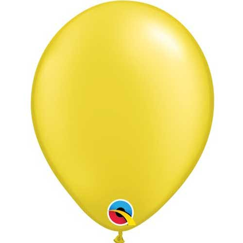 Qualatex 11 Metallic Pearl Citrine Yellow Latex Balloon