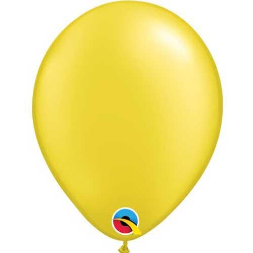 Qualatex 11 Metallic Pearl Citrine Yellow Latex Balloon