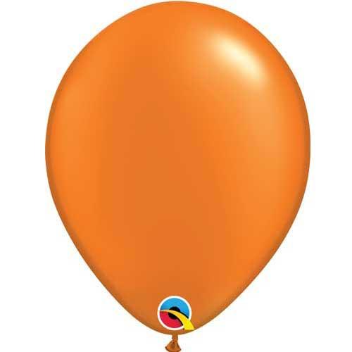 "Qualatex 11"" Metallic Pearl Mandarin Orange Latex Balloon"