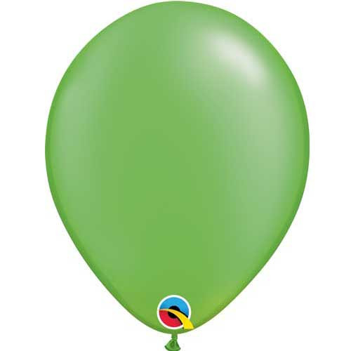 "Qualatex 11"" Metallic Pearl Lime Green Latex Balloon"