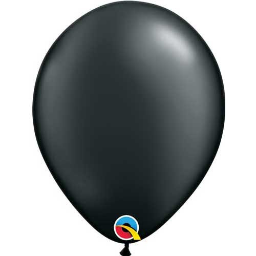 "Qualatex 11"" Metallic Pearl Onyx Black Latex Balloon"