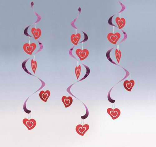 Hearts Dizzy Danglers