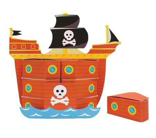 Pirate Ship Favorbox Centerpiece