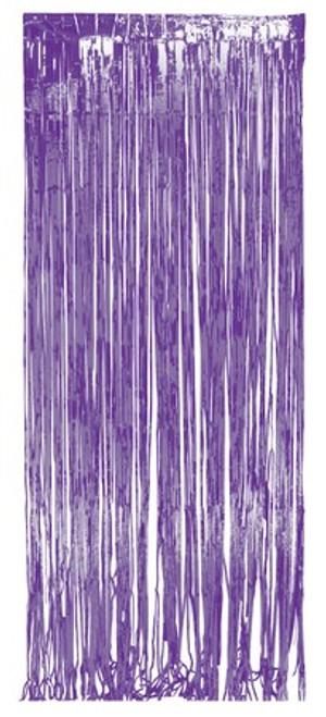 Purple Foil Door Fringe 8 ft x 3 ft