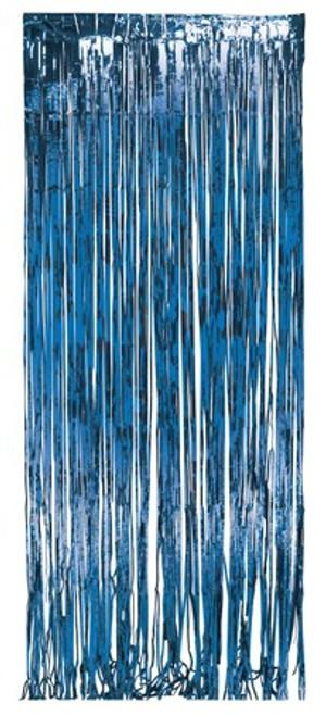 Blue Foil Door Fringe