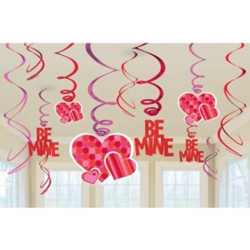 Be Mine Swirl Dangler with Cutouts