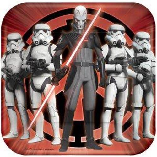 "Star Wars Rebels 7"" Square Dessert Plates"