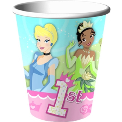Disney Princess 1st Birthday Paper Cups