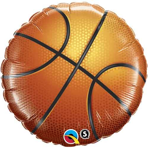 "18"" Basketball Foil Balloon"