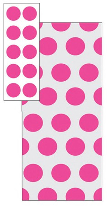 Hot Pink Dots Cello Bag with Sticker Seals