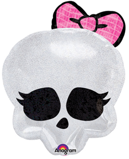 "21"" Monster High Skullette Badge Holographic Junior Shape Balloon"
