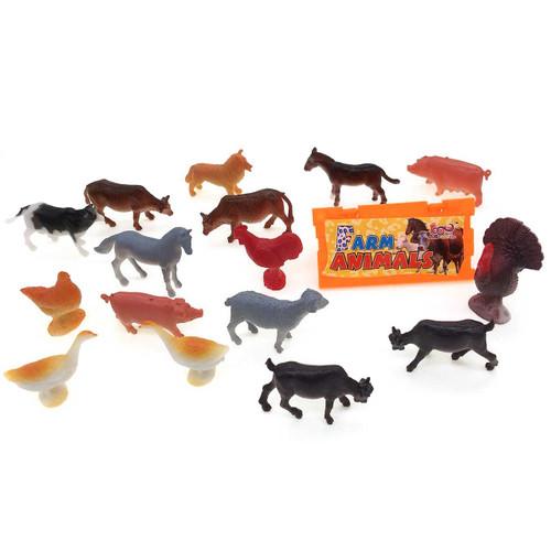 Mini Farm Animals Toy Set