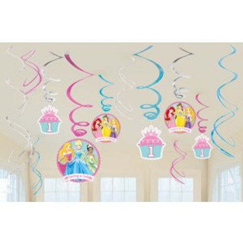 Disney Princess 1st Birthday Swirl Danglers