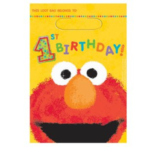 Elmo's 1st Birthday Loot Bags