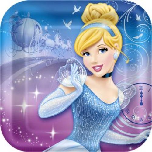 """Cinderella 7"""" Square Dessert Plates"""