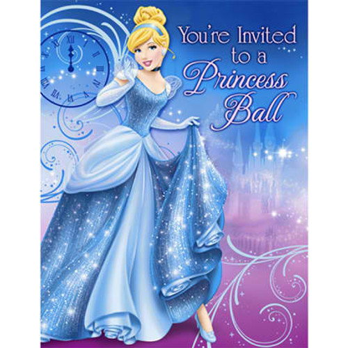 Cinderella Sparkle Invitation Cards & Envelopes