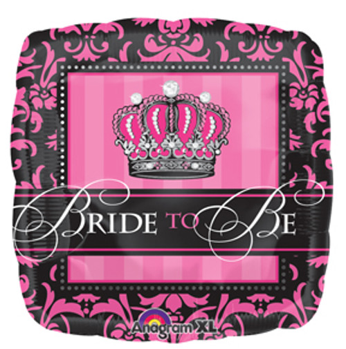 "18"" Crowned Bride To Be Square Balloon"