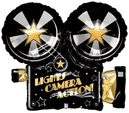 "32"" Lights Camera Action Super Shape Balloon"