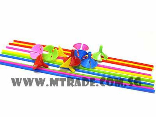 Balloon Stick & Cup Assorted Colors