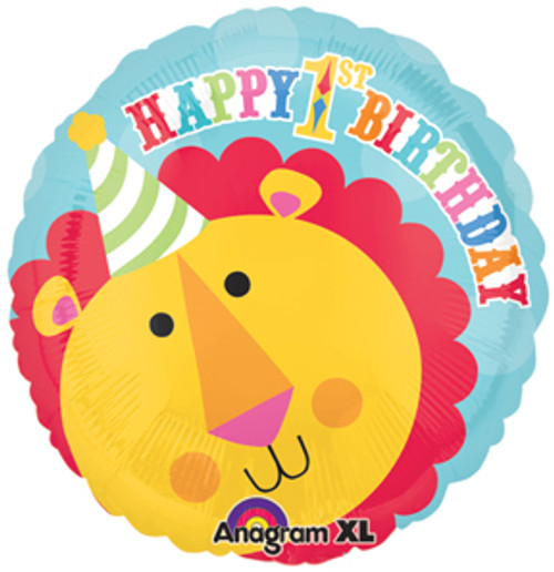 "17"" Fisher Price Circus Lion 1st Birthday Balloon"