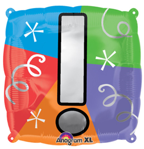 """18"""" Exclamation Point Quad Balloon"""