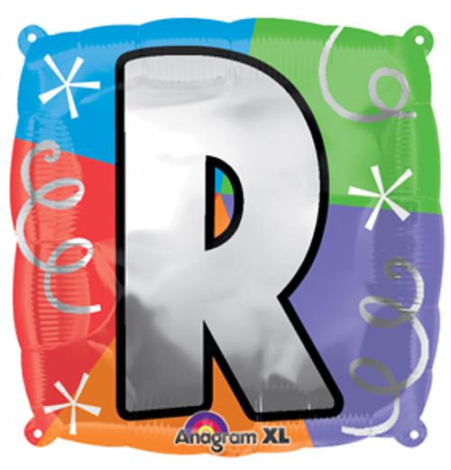 "18"" Letter R Quad Balloon"