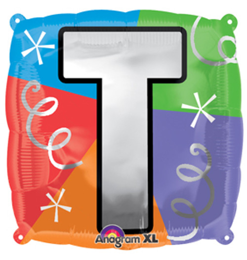 "18"" Letter T Quad Balloon"