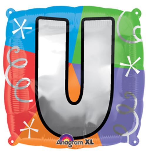 "18"" Letter U Quad Balloon"