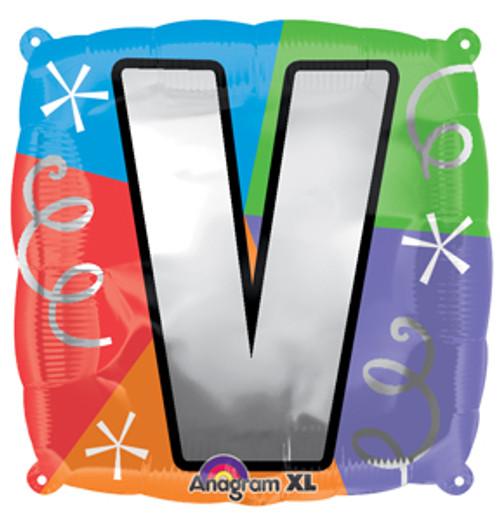 """18"""" Letter V Quad Balloon"""