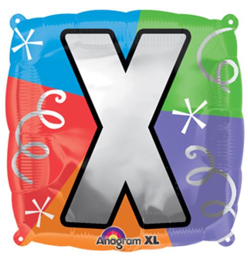 "18"" Letter X Quad Balloon"