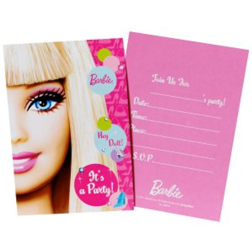 Barbie All Dolled Up Invitation Cards & Envelopes