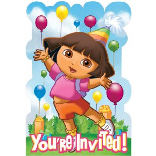 Dora & Friends Invitation Cards & Envelopes
