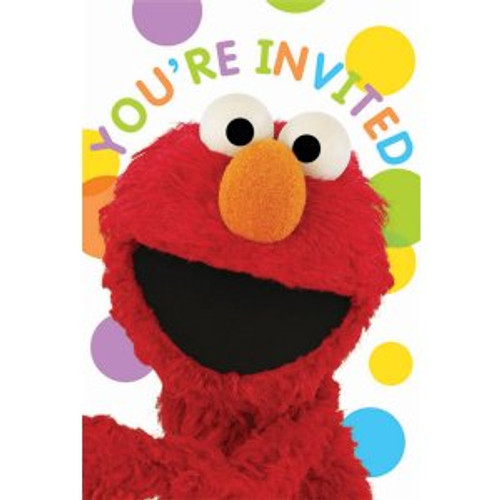 Sesame Street Party Invitation Cards & Envelopes