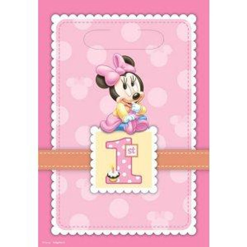 Minnie's 1st Birthday Loot Bags 8pcs/pack
