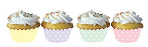 Pastel Dots Cupcake Wrapper