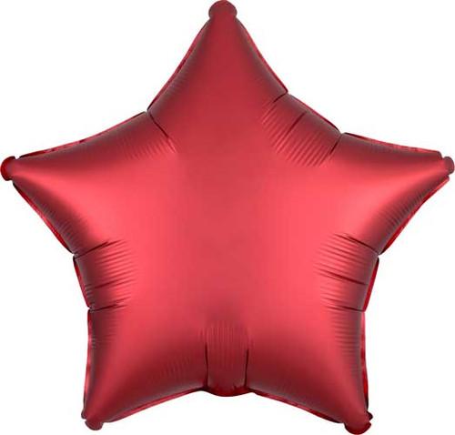 """19"""" Satin Luxe Sangria Star Foil Balloon"""