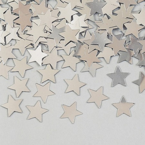 Silver Stars Shaped Confetti Pack