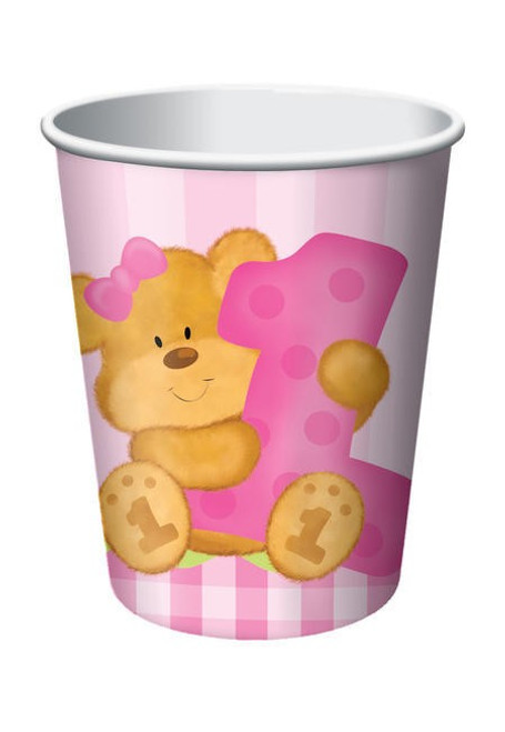 Bears 1st Birthday Girl 9 Oz Hot/Cold Cup