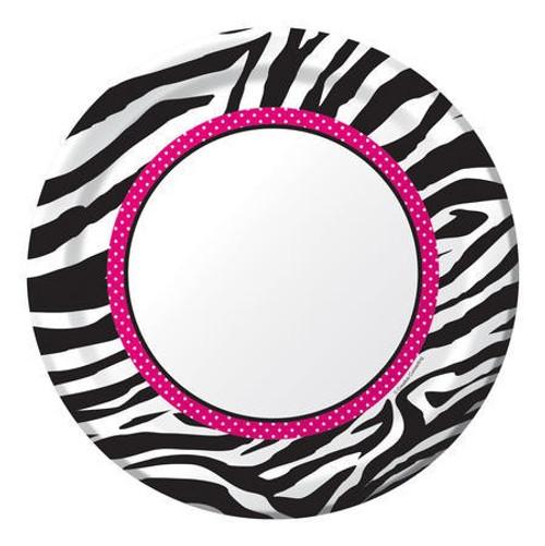 "Pink Zebra Boutique 9"" Dinner Plates"