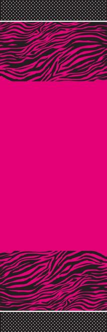 Pink Zebra Boutique Plastic Tablecover