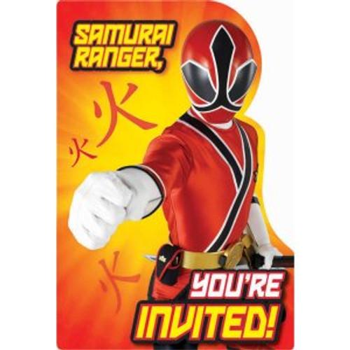 Power Rangers Samurai Invitation Cards & Envelopes