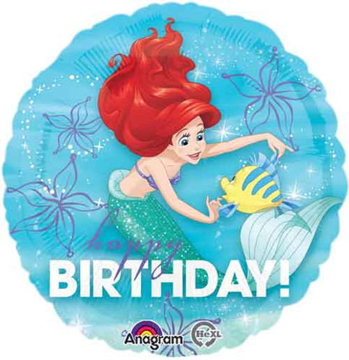"17"" Ariel Big Birthday Balloon"