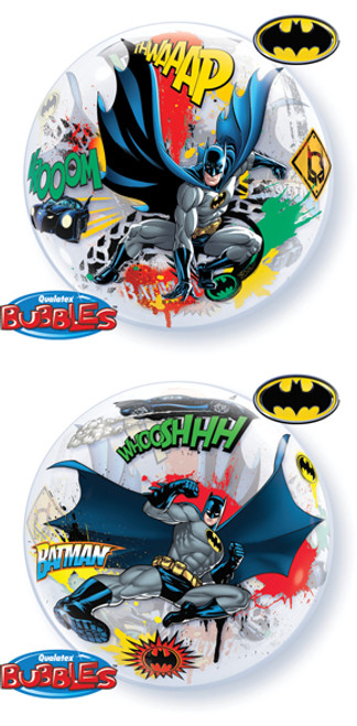 "22"" Batman Battle Over Gotham Bubble Balloon"