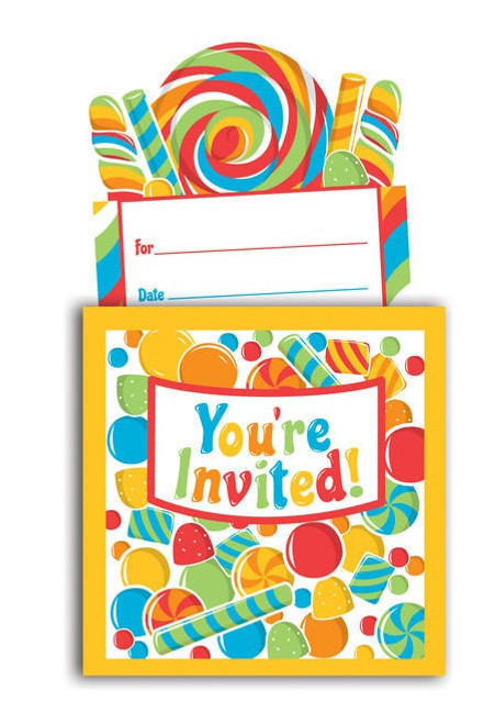Sugar Buzz Popup Invitation Cards & Envelopes