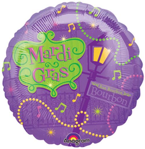 """18"""" Mardi Gras Bourbon Street Balloon"""