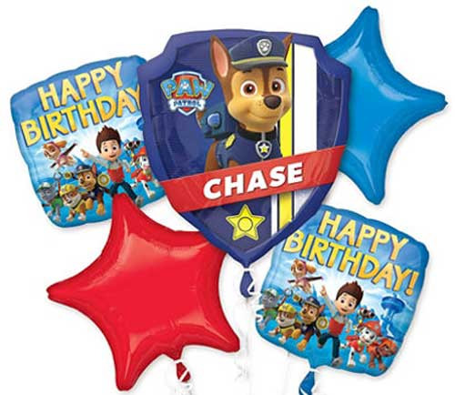 Paw Patrol Birthday Balloon Bouquet